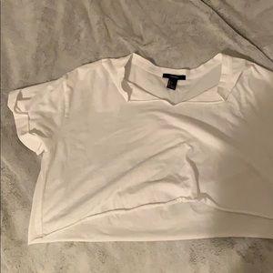 Never worn white crop top